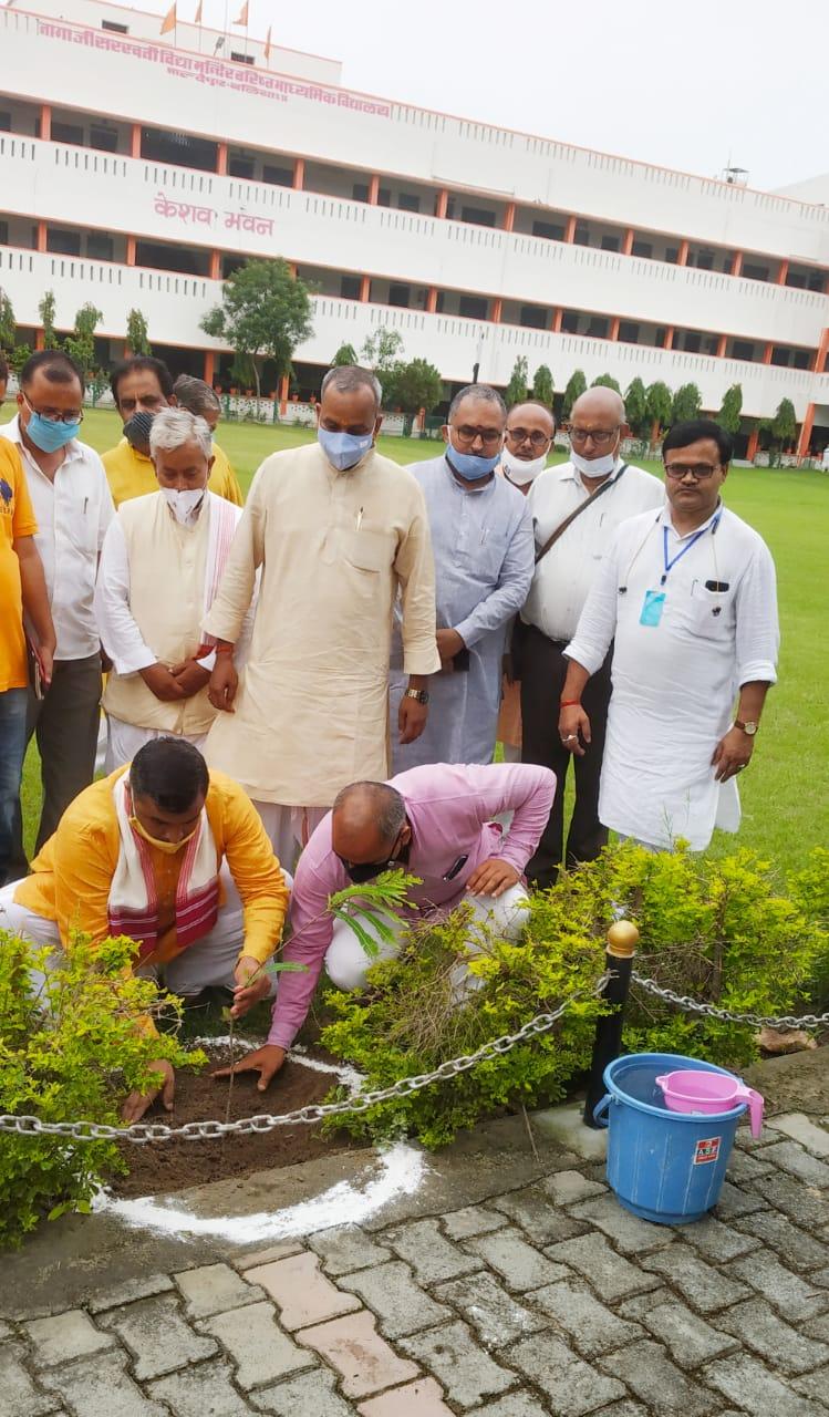 बलिया : नागाजी स. वि. मं. व. मा. वि. माल्देपुर परिसर में किया गया पौधारोपण