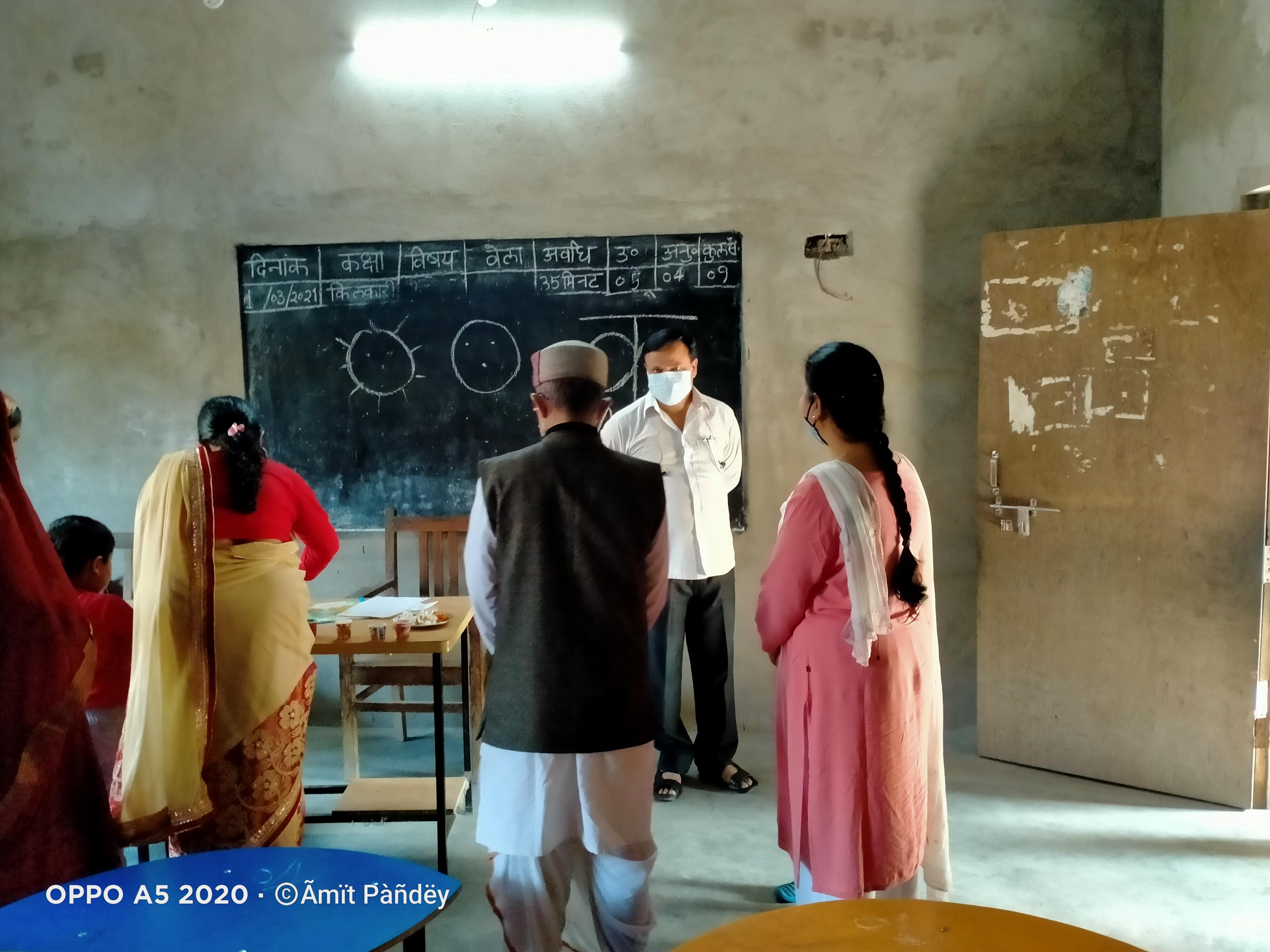 बलिया : नागाजी स. वि. मं. (शिशु वाटिका) माल्देपुर में सम्पन्न हुई प्रवेश परीक्षा
