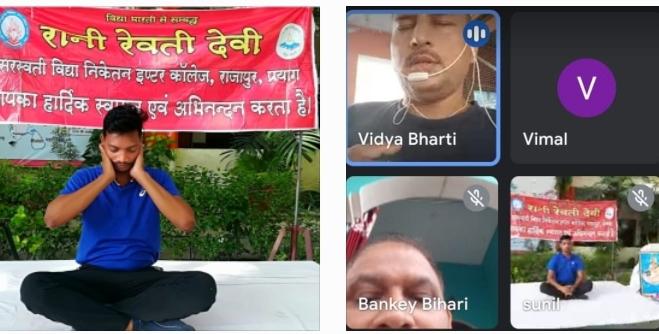 प्रयागराज: प्रांतीय संगठन मंत्री श्रीमान राम मनोहर जी ने किया छह दिवसीय ऑनलाइन योग शिविर का उद्घाटन
