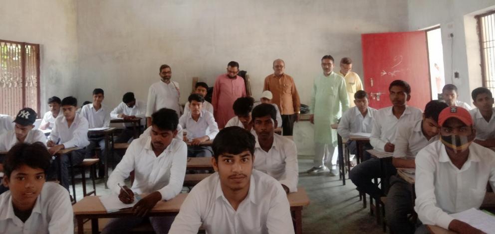 बलिया : नागाजी स. वि. मं. इं. कॉ. जीराबस्ती में मा. कमलेश सिंह जी व मा. अक्षय ठाकुर जी का हुआ आगमन